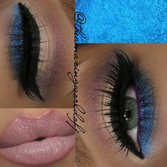 @bhcosmetics 120 color palette 1st edition -#premiumvanity Shadows in Venus & Ultramarine -@zoevacosmetics Graphic Eyes Eyeliner in 'Regency' -@tartecosmetics Amazonian Clay Dual Liner in black