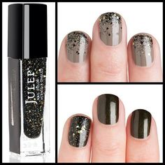 coal black with multidimensional glitter add-on