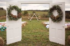 I love this... With us having the wedding in an open field this will keep the groom oblivious til the right moment.