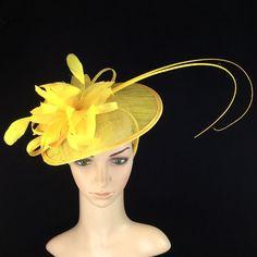 Black Green And Yellow Fascinator Sally Hoopers Bags Pashminas Hats Fascinators Pinterest