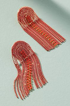 Red April Showers Drop Earrings #Anthropologie #ad