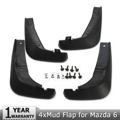A-Premium Splash Guards Mud Flaps Mudflaps for Mazda 6 2014-2016 Sedan only 4-PC Set