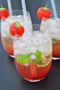 Eine kühle Erfrischung für den frühen Abend: der Strawberry Ipanema (alkoholfrei).