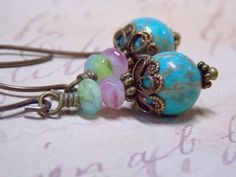 I just love these colors together.Blue, pink and green are a beautiful combination that reminds me of spring. Turquoise…