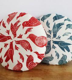 Round Mandala Bird Pillows by Chloé Derderian-Gilbert on Scoutmob Shoppe