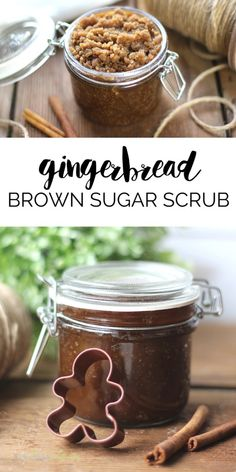 Gingerbread Brown Sugar Scrub is an easy DIY that smells amazing and does wonders for your skin! It also makes a perfect homemade gift idea.
