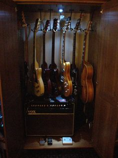 Guitar & Amp Storage Cabinet. - My Les Paul Forums - @Angel Kittiyachavalit Amorin will need this some day