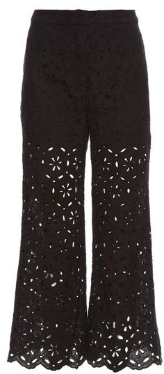 ZIMMERMANN Pavilion broderie-anglaise cropped trousers