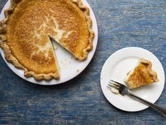 """As Indiana's state pie, this rich, nutmeg-dusted custard pie also goes by the name """"Hoosier Pie."""" Born in Shaker communities in the 1800, it's one of our favorite simple desperation pies."""
