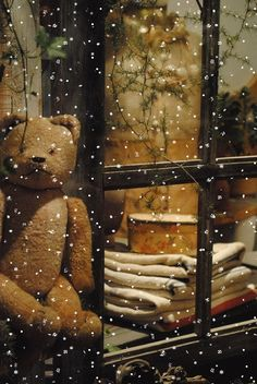 Enchanted Toy Shop ~charming gif of softly falling snow.