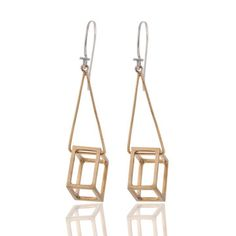 Cube Earrings, $55, now featured on Fab.