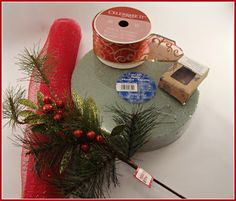 Christmas Deco Mesh Centerpiece