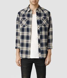 Mens Ballast Shirt (Ink Base Check) - product_image_alt_text_1
