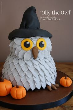 "My Halloween Cake ""Olly the Owl""  I hope you like him!! xx"
