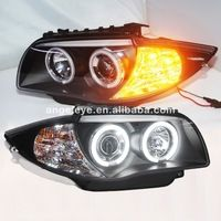 For BMW E87 1 Series 120i 130i Head Lamp CCFL Front light 2004-2011 Year SN
