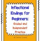 I am so grateful for your feedback. This little four-pack is a differentiated set of pages to teach beginners about inflectional endings. It can be used a variety of ways: guided, with buddies, and independent or all three which is what I did.   There are suggestions for use as well.