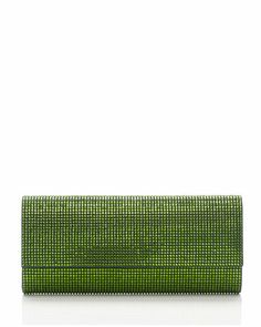 Ritz Fizz Crystal Clutch Bag, Silver Fern Green by Judith Leiber Couture at Neiman Marcus.