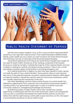 Masters in public health admissions essay
