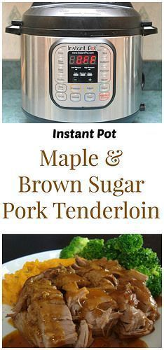 Instant Pot Maple & Brown Sugar Pork Tenderloin has a touch of sweetness from the maple syrup and brown sugar. We love to serve this with mashed sweet potatoes! | What's Cookin, Chicago?