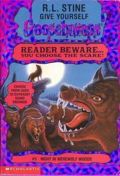 REPIN if you 'gave yourself goosebumps' with this book!  Keywords: Goosebumps, Night in Werewolf Woods, books