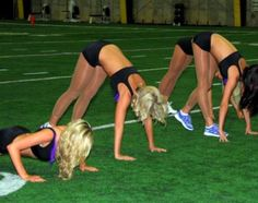 NFL Cheerleader Workout Being Happy
