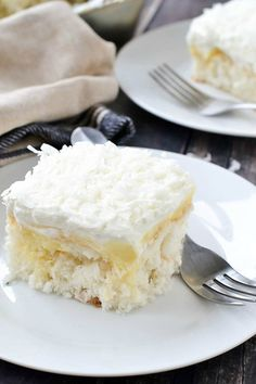 Coconut Cream Poke Cake - Mother Thyme
