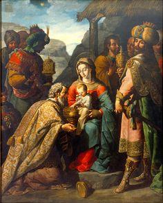 Adoración de los Reyes Magos - José Juárez.