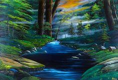 靄のかかった・・・深緑の渓流