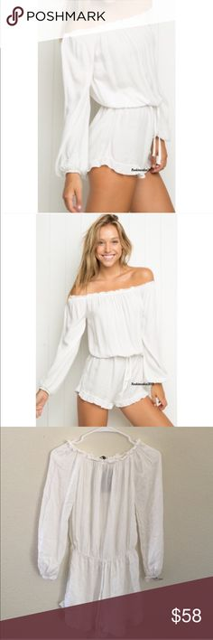Brandy Melville white Gabriella romper NWT Brandy Melville Pants Jumpsuits & Rompers