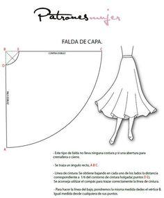 Trazado de falda