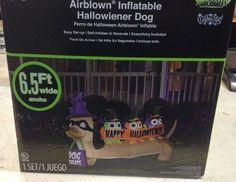 6' Gemmy Halloween Dachshund Hallowiener Dog Lighted Airblown Inflatable Prop