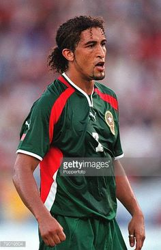 Football 2002 World Cup Qualifier African Second Round Group C 30th June 2001 Rabat Morocco 1 v Egypt 0 Morocco's Moustafa El Hadji