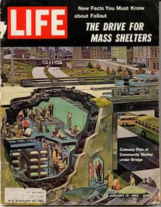 Life magazine covering fallout shelters