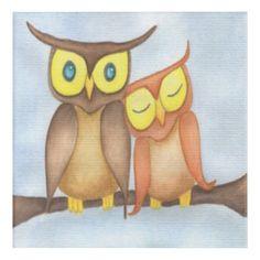 The Owl Lovers Acrylic Print by One Artsy Momma.      #owl #owls #owlart #owlartwork #owlpainting #owlllustrations #owlpaintings Owl Artwork, Owl Illustration, Illustrations, Etsy Shop, Canvas Prints, Art Prints, Statue, Wildlife Art, Easy Drawings