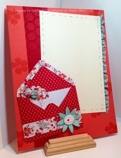 Scrapbook Page made with the Sealed With Love Simply Sent Kit Stampin' Up!