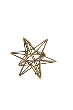 This trellis star from Regina Andrew features welded black metal with silver colored tips.    This version measures Small: 12L x 12W x 10H   Trellis Star by Regina Andrew. Home & Gifts - Home Decor Maryland
