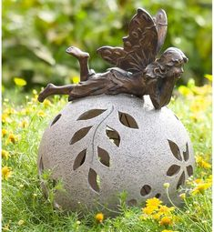 Create the miniature garden of your dreams! Fairy garden accents, furniture and accessories from Plow & Hearth add enchantment to your yard and garden. Fairy Statues, Fairy Figurines, Garden Statues, Garden Sculpture, Solar Powered Lights, Solar Lights, Wooden Pathway, Garden Globes, Garden Care