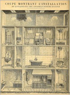 Image depicting the sanitary installations in a house, Doulton Catalogue 1889