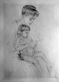 Mary cassatt mother and child art sketch poster mary for Mary cassatt coloring pages