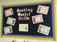 The Speech Ladies: Rocking Social Skills Bulletin Board. Pinned by SOS Inc. Resources. Follow all our boards at pinterest.com/sostherapy/ for therapy resources.