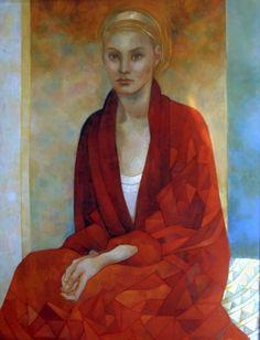 elisabetta trevisan art | donna in rosso