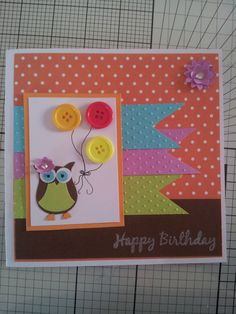 SU owl punch - (papers/card not SU) got the layout idea off http://thequeensscene.blogspot.co.uk