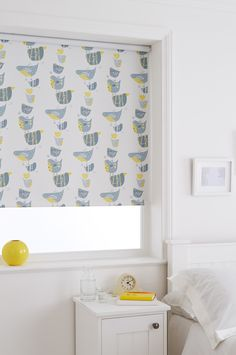Our Spring Grey Roller blind is perfect for nurseries if you want to stay away from traditional pinks and blues. Featuring quirky birds stacked on top of one another in a perfect colour combination of grey and yellow it's a great contemporary addition to your little ones bedroom. The blackout coating on this fabric will hopefully help keep your little ones in bed longer too!