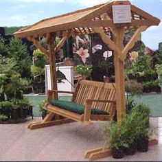 Have to have it. Wood Country Yardswing Stand with Roof & Optional Swing $849.99