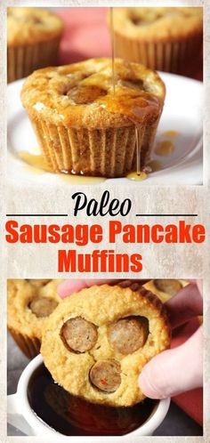 Paleo Sausage Pancake Muffins- easy and so delicious! Gluten free and dairy free.