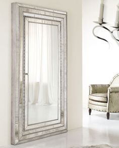 Marvelous H53PS Hooker Furniture Glam Floor Mirror Opens To Store Jewelry $2000