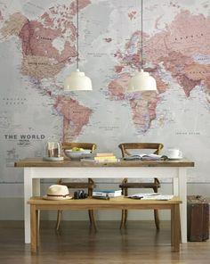 Einrichtungsideen Esszimmer Wand Gestaltung Karte Sitzbank