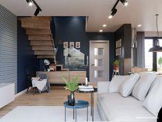 Wnętrza do projektu Szczegóły znajdziesz na stronie www. Modern House Floor Plans, Balcony Doors, Two Storey House, Home Catalogue, Flat Roof, Types Of Houses, Interior Walls, Ground Floor, Home Projects