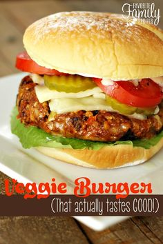 You have got to try these veggie burgers! They are so flavorful and have the perfect consistency. Even my anti-veggie-ANYTHING husband likes these!