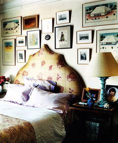 bedroom of Hamish Bowles
